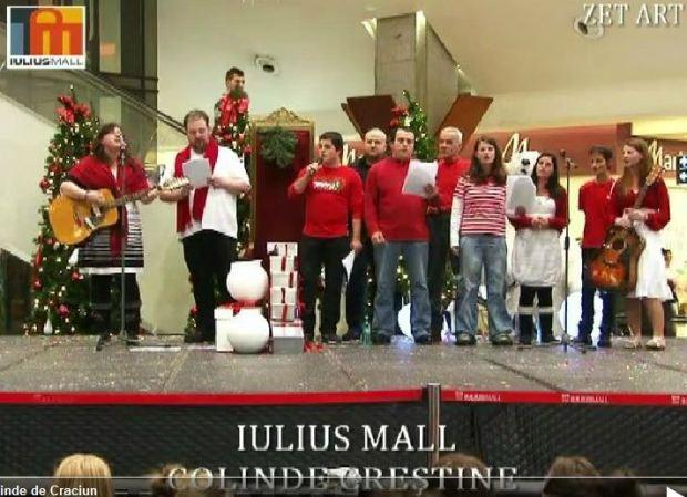 Caroling at Mall